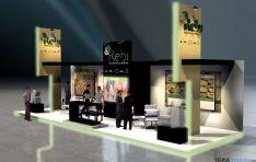Recreación del stand de REBI en Expobioenergía