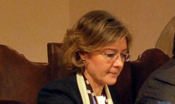 Isabel García Tejerina, en una visita a Soria.