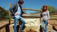 Mínguez y Calvo, en la Fuente de la Zorra.