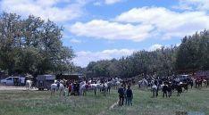 Aspecto de Cañada Honda, con la concentración de caballistas