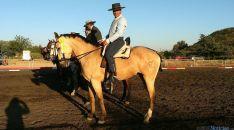 El jinete con su caballo Maná.