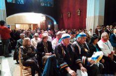 Miembros de la delegación de Isleta en el convento agredano. / SN