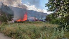 Imagen de las llamaradas en el incendio. / SN