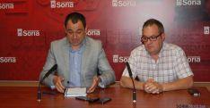 Carlos de Pedro y el concejal Javier Muñoz en la presentación. Ayto
