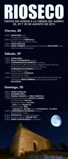 Cartel para desplegar de las fiestas de Rioseco. / Alejandra y María Álvarez