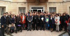 Los asistentes, con el obispo Melgar./DOS