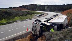 Accidente en el tramo de El Temeroso, en la N-122