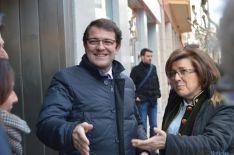 El alcalde de Salamanca con Marimar Angulo./SN