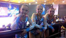 Las gimnastas sorianas con sus medallas./CGD