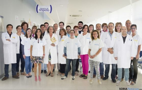 Personal del centro de salud de San Esteban de Gormaz. /Junta