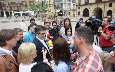 Patxi López en su visita a Soria