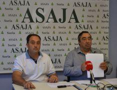 Imagen de la rueda de prensa de ASAJA esta mañana. /SN