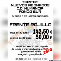 Promoción del Frente Rojillo para 2016/2017.