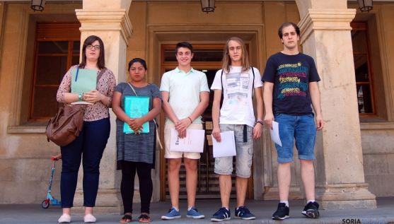 Los estudiantes becados por el Ayuntamiento./Ayto.