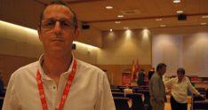 Alberto Lozano, esta noche de jueves tras el congreso constituyente. / SN