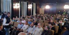 Imagen del foro esta noche en el ayuntamiento de Soria. / SN