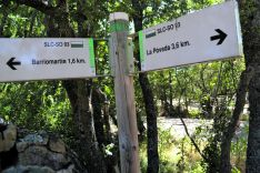 Salida de la ruta de la localidad de Arguijo