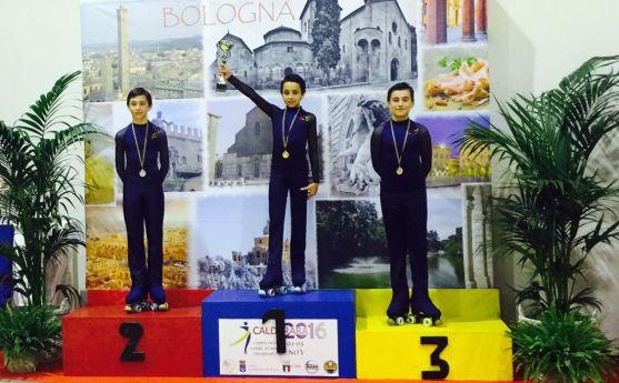 Héctor Díez, en lo alto del podio./RFEP