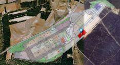 En color rojo, la ubicación de los terrenos.