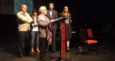 La profesora de francés, María Jesús Sainz en el homenaje de este viernes.