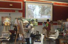 Actividad de taller de pintura en la Semana Francesa.
