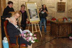 Josefa Fuentes junto a María José Fuentes en el homenaje.