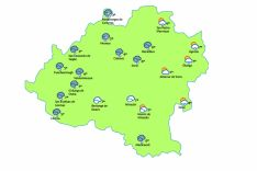 El mapa para este jueves./eltiempo.es