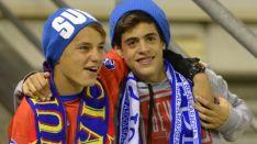 Aficionados del Numancia y del Real Zaragoza. Fuente: CD Numancia
