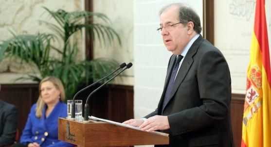 Herrera, en la presentación de las cuentas de la Comunidad para 2017.