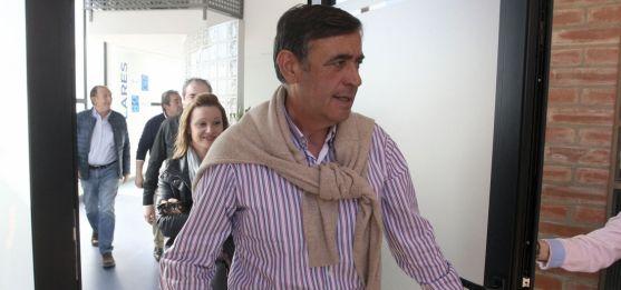 Antonio Pardo a la salida de la sede del PP soriano. /SN