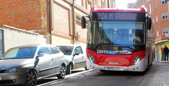 Un autobús urbano en El Calaverón./SN