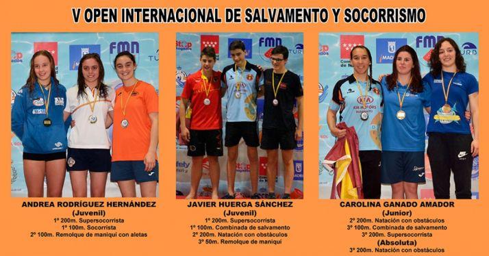 Fotografía del medallero del Campeonato de España de Primavera.