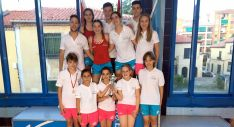 Los nadadores en Segovia.