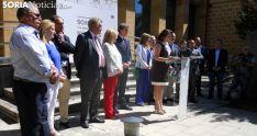 Acto de inauguración a las puertas del Museo Numantino. /SN