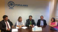 Grupo de diputados del PP de Soria.