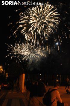 Imagen de los fuegos artificiales esta noche./SN