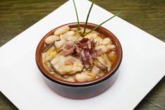 BAREL CAFÉ DEL ROSEL-Alubias blancas  con boletus y jamón