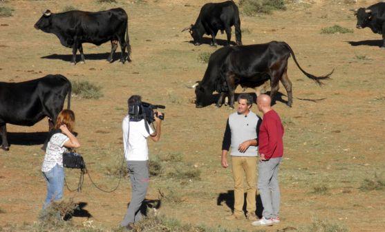 Imagen de la grabación del espacio televisivo.
