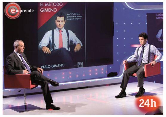 Pablo Gimeno, en el programa de televisión Emprende.