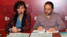 Inés Andrés y Javier Moreno este lunes. /Ayto.
