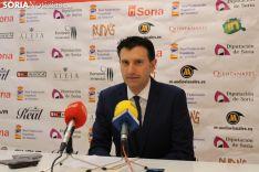 Ángel Romera, en su rueda de prensa de despedida como vicepresidente del Río Duero.