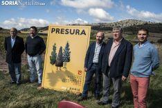 Imagen de la rueda de prensa de la presentación de Presura.