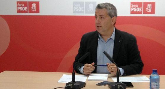 Javier Antón, este lunes en rueda de prensa.