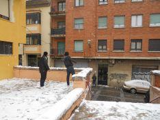 Batalla de bolas de nieve.