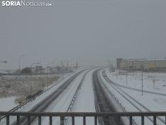 Nieve y hielo en las carreteras sorianas.