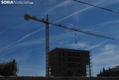 Obras de construcción en Soria.