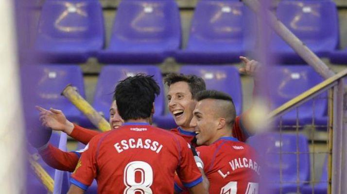 Guillermo marcó el gol de la victoria (2-3) en Valladolid.