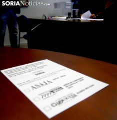 Una papeleta de voto para estas elecciones en la provincia. /SN