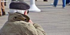 Un jubilado soriano en la capital. /SN