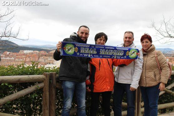 Llegada del Real Madrid al Parador Antonio Machado. Brenda Mateo.